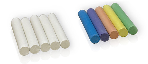 White or coloured chalk