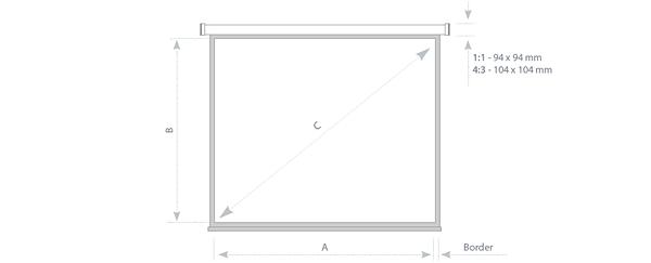Ekran elektryczny - rysunek techniczny - wymiary