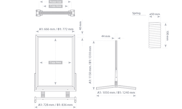 SM - technical drawing - dimensions