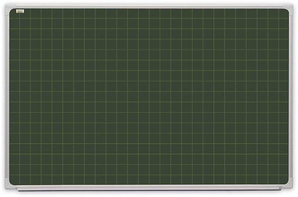 Tablica kredowa (zielona) z nadrukiem kratki, magnetyczna ceramiczna