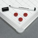 Dry wipe magnetic whiteboard, alu23 frame, plastic corner