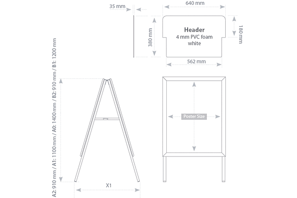 TZS - technical drawing - dimensions