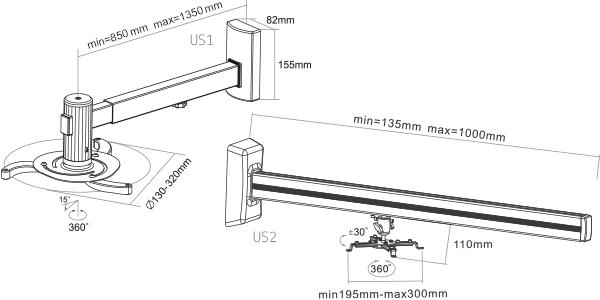 US1, US2 - rys. techn. - wymiary