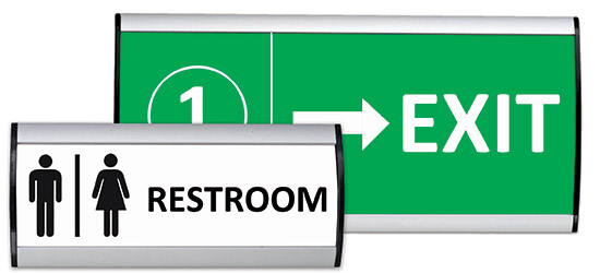 """Convex wall/door sign"""""""