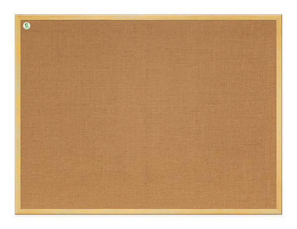 Jute board in wooden frame