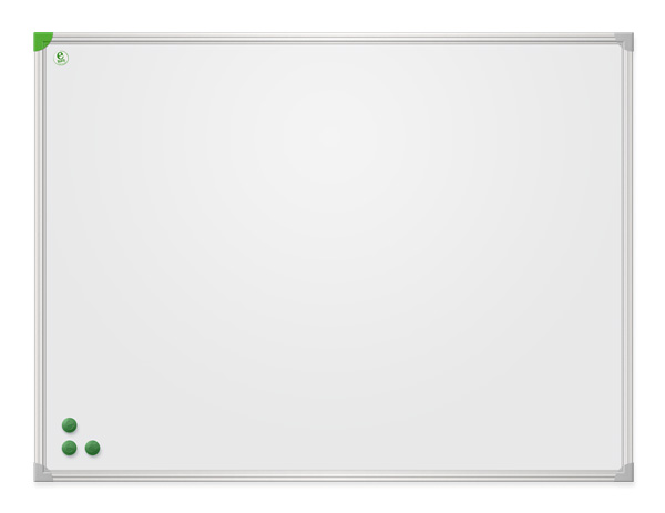 Whiteboard in aluminium frame e-Line