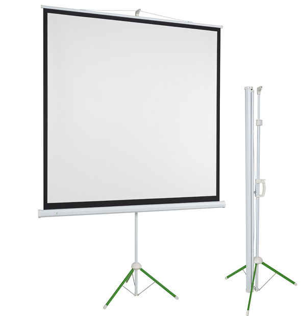 portable projection screen on tripod