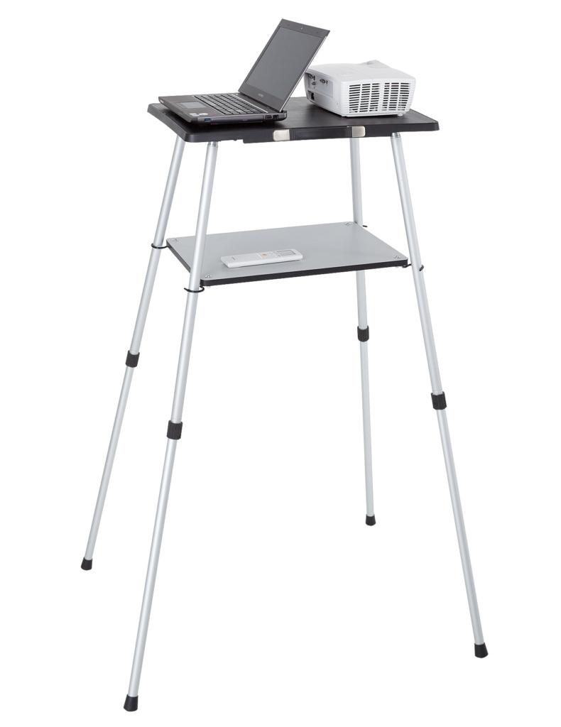 Stolik projekcyjny MOBILE. 4 nogi teleskopowe, wkręcane (na gwint), 2 pulpity.