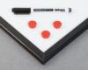 Tablica suchościeralno-magnetyczna w czarnej ramie MDF