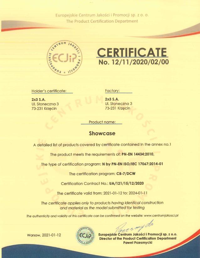 Certificate of Conformity No. 12/11/2020/02/00